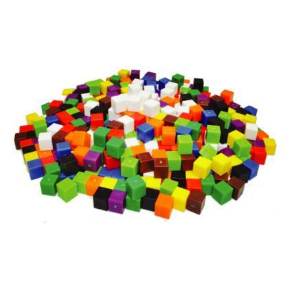 1cm Cubes 10 Colours (1000pcs)