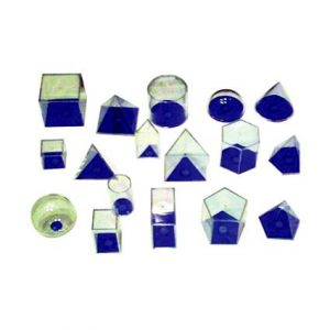 3D Geo Solids 17 Shapes (Blue)