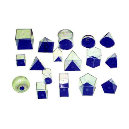 3D Geo Solids 17 Shapes (Blue)