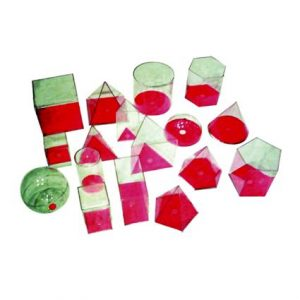 3D Geo Solids 17 Shape (Red)