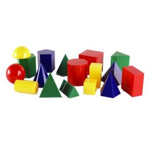3D Geo Solids 17 Shapes 4 Colours