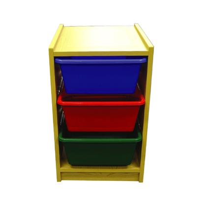 3 Level Vertical Wood Drawers