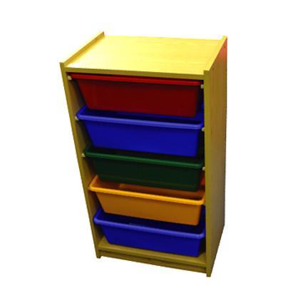 5 Level Horizontal Wood Drawers