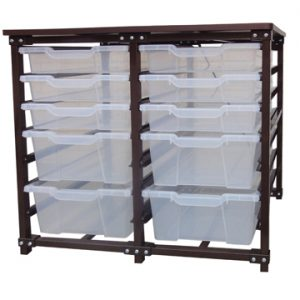 2 SECTION TRAY STORAGE