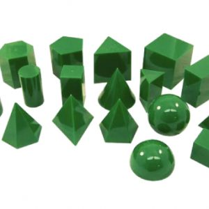 3D GEO SOLID 17 SHAPES GREEN SET