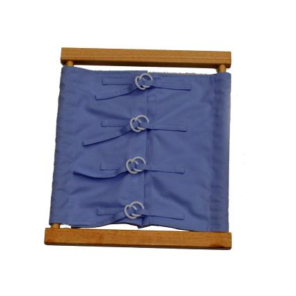 Buttoning Frame with Wooden Button & Elastic Holdings