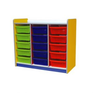 Colourful 15 Basket Shelf