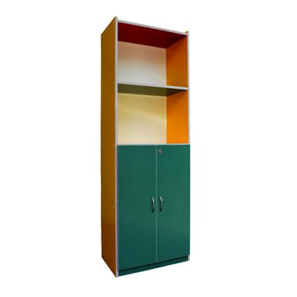 Colourful 4 Level Shelf with Door