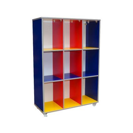 Colourful 9 Holes Bag Cubby Shelf