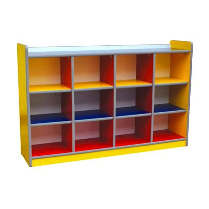 Colourful Manipulative Cubby Shelf