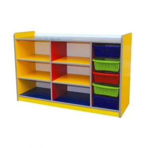 Colourful Manipulative 5 Basket Shelf