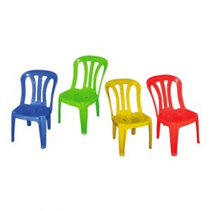 "ADULT PVC CHAIR 17"" BLUE"