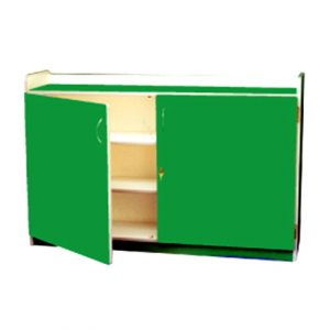 Low Book Shelf with Doors & Lock
