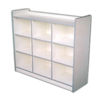 Manipulative Cubby Shelf (White)