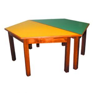 Wooden Hexagonal Table