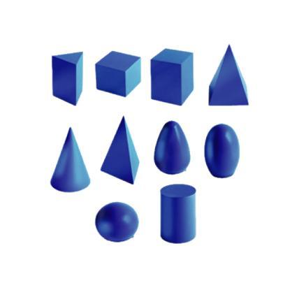 Geometric Solid Shape (10pcs)