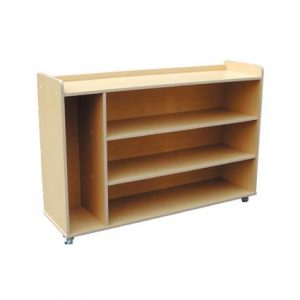 Low Book Shelf (Side Component) with Roller