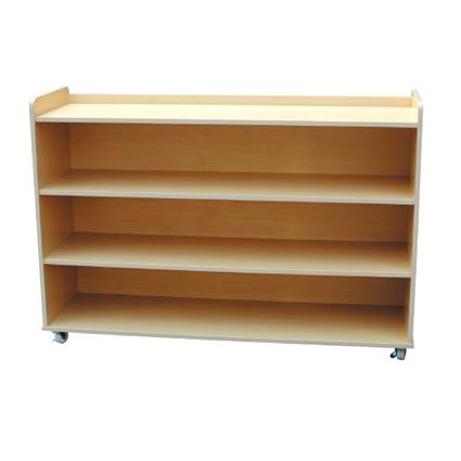Low Book Shelf with Roller