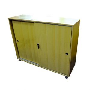 2 Tiers Cabinet with Sliding Doors