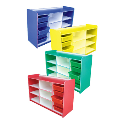 5 BASKET MANIPULATIVE SHELF BLUE