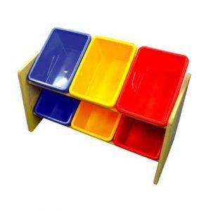 MDF Shelf (6 Bins)