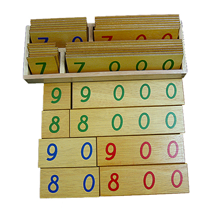 Small Wooden Number Cards
