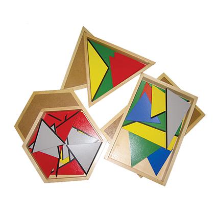 Large Hexagonol Box Of Constructive Colour Triangle