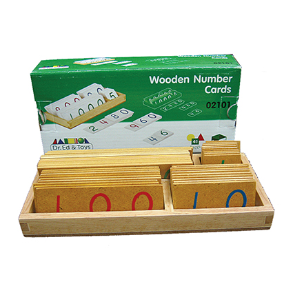 Large Wooden Number Cards