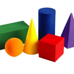 6 SHAPES GEO FOAM SOLID 4CM