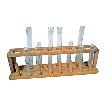 12 Test Tube + Wooden Rack