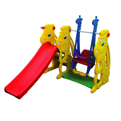 RABBIT SLIDE AND SWING SET