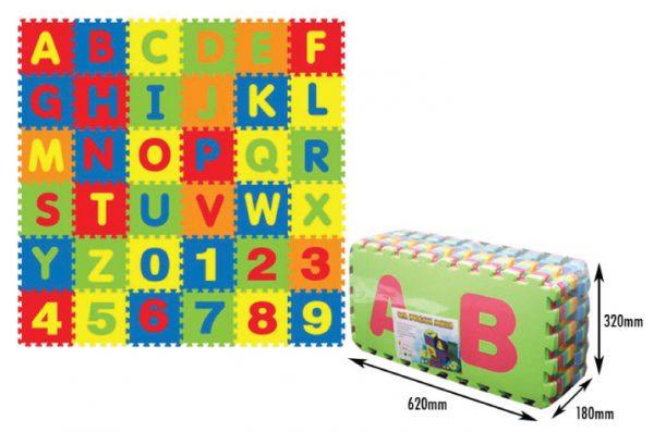 ALPHABET + NUMBER PUZZLE MATS (36PCS)