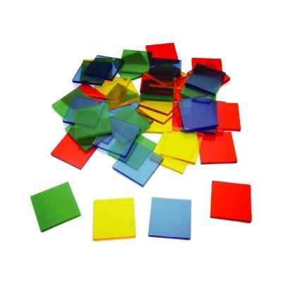 Transparent Colour Tiles (1000pcs)
