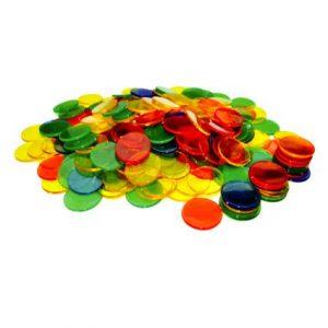 Transparent Colour Counters (1000pcs)
