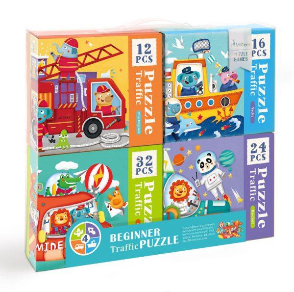 4 BOXES SET PUZZLE (TRANSPORT)