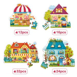 4 BOXES SET PUZZLE (BUILDING TYPE)