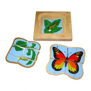 Square Wooden Puzzle (Tebal)