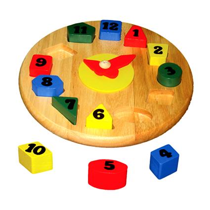Wooden Round Clock Puzzle