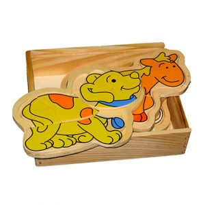 Wooden Box Animal Puzzle
