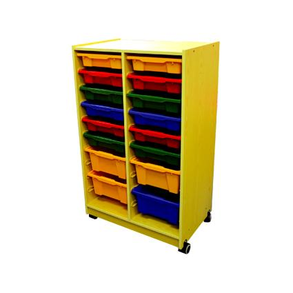 Wood Cabinet with 16 Containers