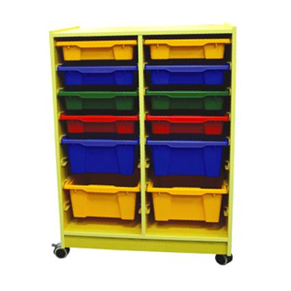 Wood Cabinet with 12 Containers