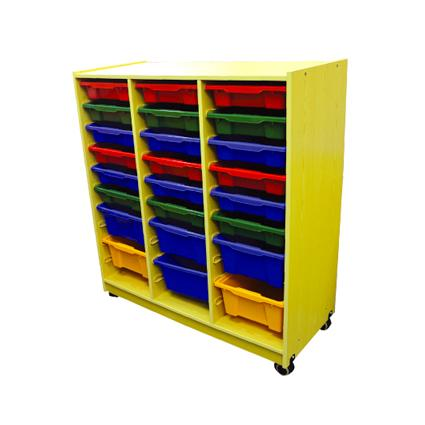 Wood Cabinet with 24 Containers